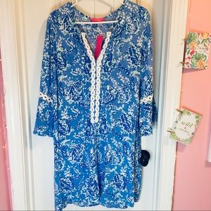 Lilly Pulitzer Hollie Tunic Dress in Turtle Print